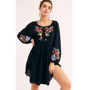 NEW Free People Spell On Your Embroidered Dress